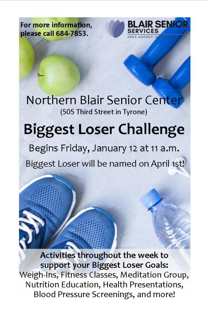 Biggest Loser Challenge @ Northern Blair Senior Center
