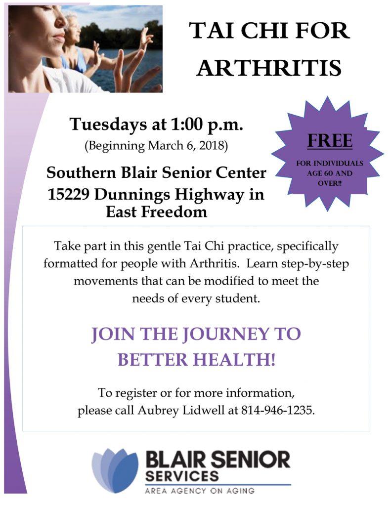 Tai Chi for Arthritis @ Southern Blair Senior Center