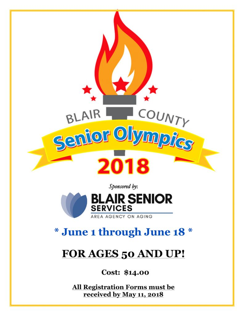 2018 Blair County Senior Olympics Registration Forms Available