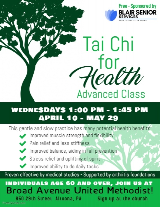 Tai Chi for Health @ Broad Avenue United Methodist