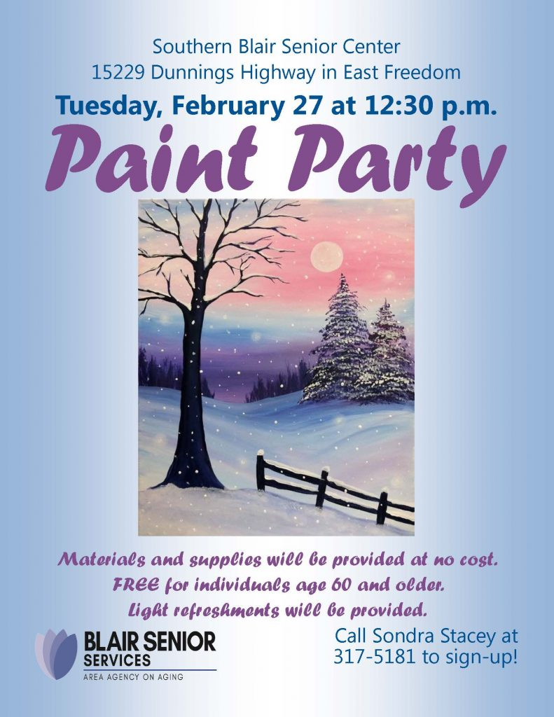 Paint Party @ Southern Blair Senior Center