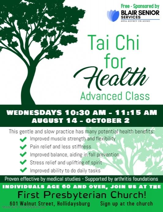 Tai Chi for Health: Advanced Class @ First Presbyterian Church
