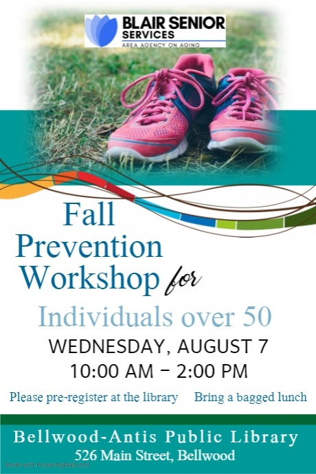 Fall Prevention Workshop for Individuals Over 50 @ Bellwood-Antis Public Library
