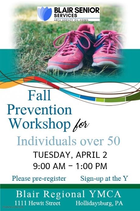 Fall Prevention Workshop (Please Pre-Register at the Y) @ Blair Regional YMCA