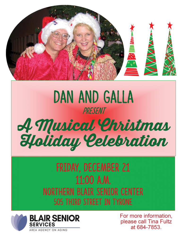 Christmas Party with Entertainment by Dan and Gala @ Northern Blair Senior Center
