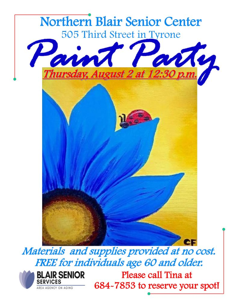 Paint Party @ Northern Blair Senior Center