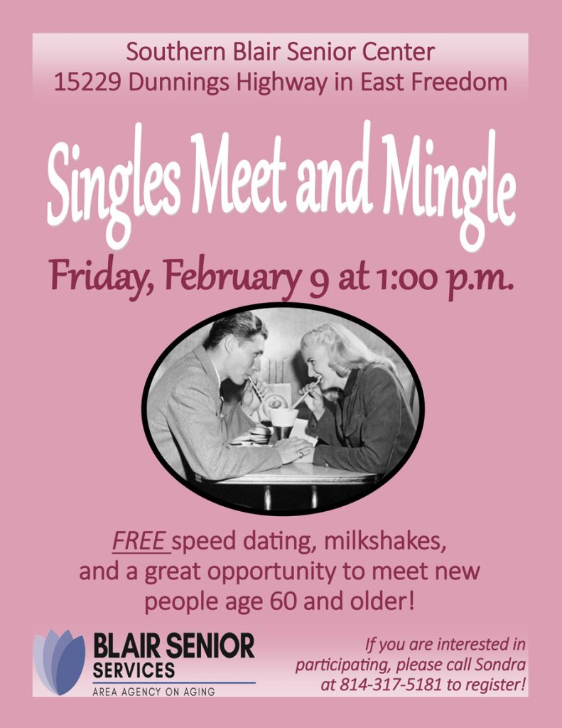 Singles Meet and Mingle @ Southern Blair Senior Center