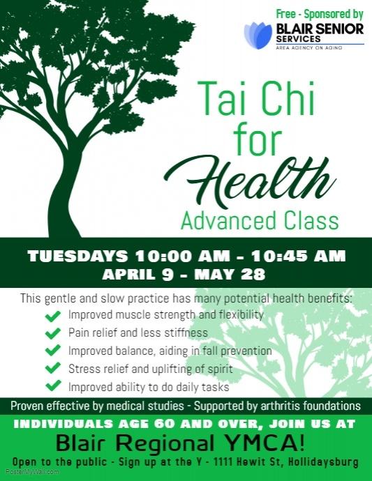 Tai Chi for Health @ Blair Regional YMCA