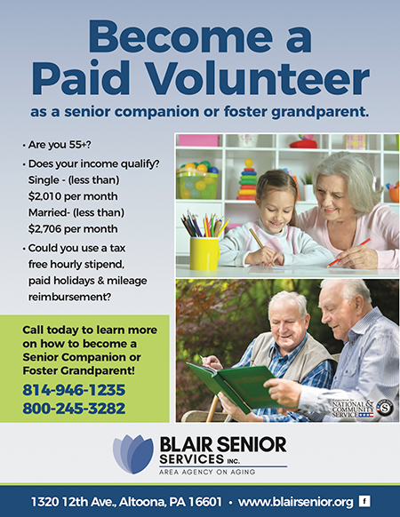 Become a paid volunteer at Blair Senior Services with our Senior Companion Program (SCP)